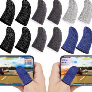 Gaming Finger Sleeve Touchscreen Finger Sleeve Anti-Sweat Breathable Touchscreen Finger Sleeve