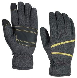 HUANG Winter Knit Gloves for Men and Women, Touchscreen Gloves, -30 °F Warm Thermal Gloves