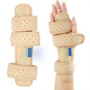 Night Wrist Sleep Support Brace - Fits Both Hands - Cushioned to Help with Carpal Tunnel and Relieve