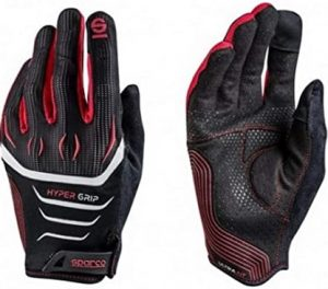 Sparco Hyper Grip Gloves Black and Red
